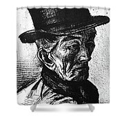 Man With Top Hat Shower Curtain