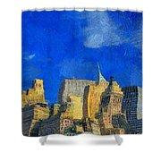 Van Gogh Meets Manhattan Shower Curtain