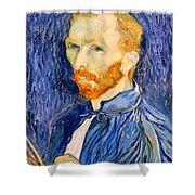 Van Gogh On Van Gogh Shower Curtain