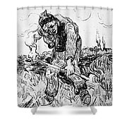 Peasant Hoeing Shower Curtain