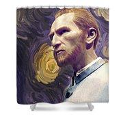 Van Gogh Portrait Shower Curtain