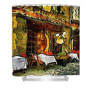 Van Gogh Style Restaurant Shower Curtain