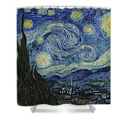 Van Gogh The Starry Night Shower Curtain