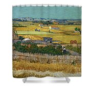 Van Gogh Wheatfield 1888 Shower Curtain