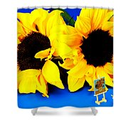 Van Gogh's Sunflower Miniature Art Shower Curtain