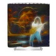 Van Halen-91-ge7a-fractal Shower Curtain