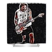 Van Halen-93-mike-gc23-fractal Shower Curtain