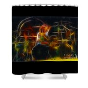 Van Halen-alex-93-gc5-fractal Shower Curtain