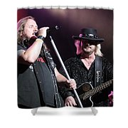 Van Zant - Johnny With Donnie Shower Curtain