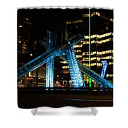 Vancouver - 2010 Olympic Cauldron Lit At Night Shower Curtain