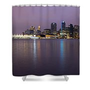 Vancouver Bc City Skyline At Dawn Shower Curtain