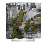 Vancouver Bc Downtown Cityscape View Shower Curtain
