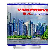Vancouver Bc Iv Shower Curtain