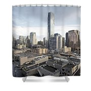 Vancouver Bc Robson Street Cityscape Day Shower Curtain