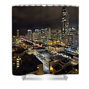 Vancouver Bc Robson Street Cityscape Shower Curtain