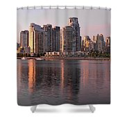Vancouver Bc Waterfront Condominiums Shower Curtain
