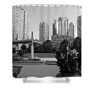 Vancouver Canada Skyscrapers And Park Shower Curtain