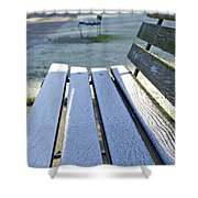 Vancouver Frosty Morning Shower Curtain by Marilyn Wilson