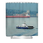 Vancouver Sea Bus  Shower Curtain