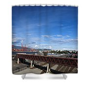 Vancouver Shipyards Shower Curtain