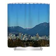 Vancouver Skyline Shower Curtain