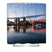 Vancouver Skyline With Bc Place Shower Curtain