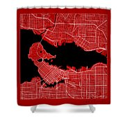 Vancouver Street Map - Vancouver Canada Road Map Art On Color Shower Curtain