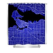 Vancouver Street Map - Vancouver Canada Road Map Art On Colored  Shower Curtain