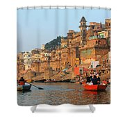 Varanasi From The Ganges River Shower Curtain
