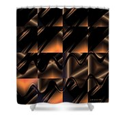 Variations In Brown Shower Curtain