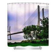 Vasco Da Gama Bridge I Shower Curtain