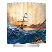 Vasco Da Gama's Ships Rounding The Cape Shower Curtain