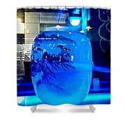 Vase Impression Bluish Shower Curtain