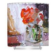 Vase Of Flowers II Shower Curtain
