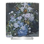 Vase Of Flowers - Reproduction Shower Curtain