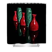 Vases In Dark Shower Curtain