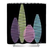 Vases On Black 2 Shower Curtain