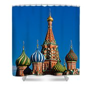 Vasily The Blessed Cathedral On Moscow Red Square - Featured 2 Shower Curtain