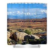 Vast Desert Landscape Shower Curtain