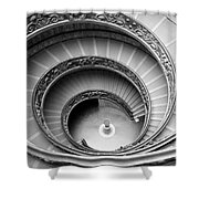Vatican Spiral Shower Curtain