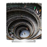 Vatican Spiral Staircase Shower Curtain