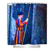Vatican Swiss Guard Shower Curtain