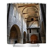 Vaulted Roof St Philibert - Tournus Shower Curtain