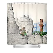 Vaulting Shower Curtain