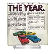 Vega - Car Of The Year 1971 Shower Curtain