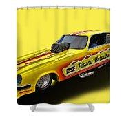 Vega Funny Car Shower Curtain