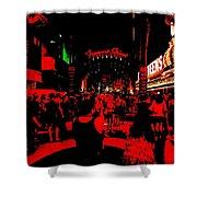 Vegas At Night Shower Curtain