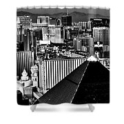 Vegas Black And White Shower Curtain