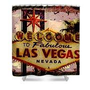 Vegas Destructed Shower Curtain