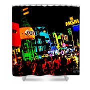 Vegas Lights Shower Curtain